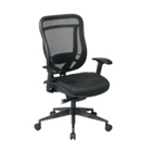 Executive Ergonomic Mesh Back Chair with Leather Seat, CD03230