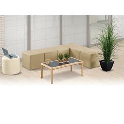L and Circle Modular Bench Set, 82105