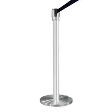 Crowd Control Post In Satin Aluminum with 7' Strap, 85000