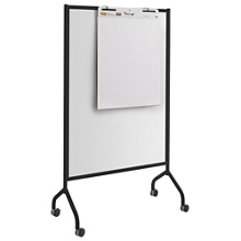 "Mobile Double-Sided Magnetic Whiteboard - 42""W x 72""H, 43408"
