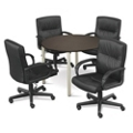 "At Work 42"" Conference Table with Four Mayor Leather Chairs, 86139"