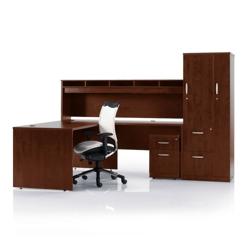 L-Desk with Storage Set, 86150