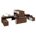 Two-Person U-Desk Workstation with Hutch, 86160