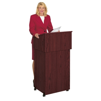 Mobile Lectern with Shelf, 90304