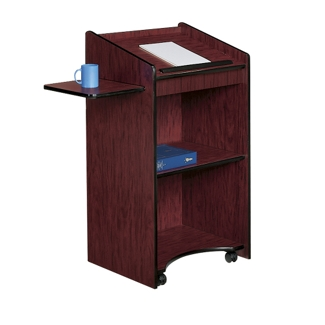 Mobile Lectern with Shelf, 90307