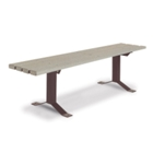 6' Wide Recycled Plastic Flat Bench, 91366