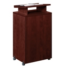 Mobile Lectern with Raised Shelf, CD02227