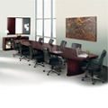 Transitional 18' Conference Table with Fourteen Chairs, 45047