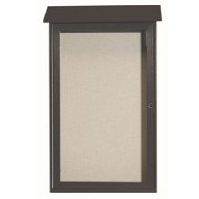 "Single Hinged Door Outdoor Message Center - 26""W x 42""H, 80319"