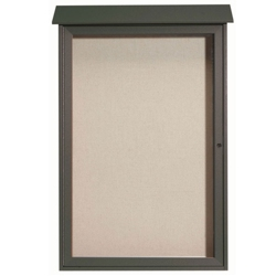 "Single Hinged Door Outdoor Message Center 32""W x 48""H, 80320"