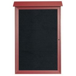 """Single Hinged Door Outdoor Message Center - 32"""" W x 48""""H, 80323"""