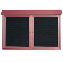 """Double Hinged Door Outdoor Message Center - 45""""W x 30""""H, 80328"""