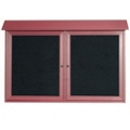 "Double Hinged Door Outdoor Message Center - 45""W x 30""H, 80328"