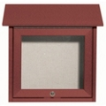 "Slimline Top Hinged Door Outdoor Message Center - 18"" x 18"", 80337"