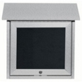 "Slimline Top Hinged Door Outdoor Message Center - 18"" x 18"", 80339"