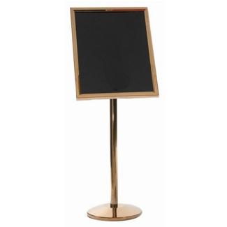 """Brass Standing Sign Holder - 20""""W x 24""""D, 87355"""