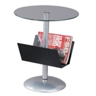 Glass End Table with Magazine Rack, 33006