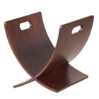 Curved Wood Tabletop Magazine Holder, 33008