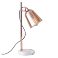 Amber Glass Shade Table Lamp, 82574
