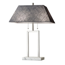 Fabric Shade Table Lamp with Marble Base, 82579