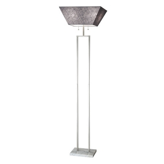 Fabric Shade Tall Floor Lamp with Marble Base, 82581