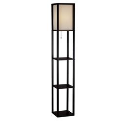 Lantern Floor Lamp with Shelves, 87325