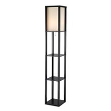 Tall Square Floor Lamp with Three Shelves, 87553