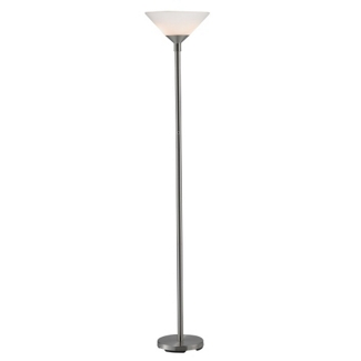 Hi/Low Satin Steel Floor Lamp, 87556