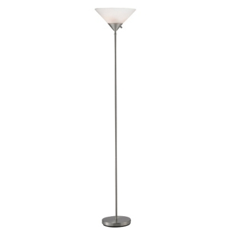 Satin Steel Hi/Low Floor Lamp, 87558