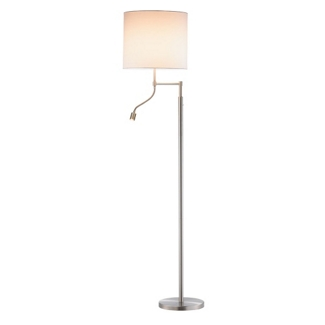 Satin Steel Floor Lamp with Reading Light, 87565