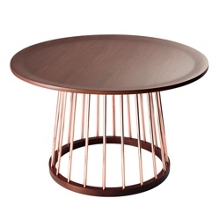"Copper Accent Round Coffee Table - 27.5""DIA, 46201"