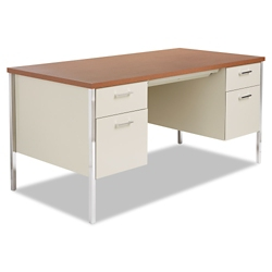 "Double Pedestal Metal Desk 60"" x 30"", 11968"