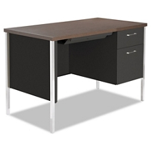 """Compact Single Pedestal Metal Desk 45"""" x 24"""", 11969"""