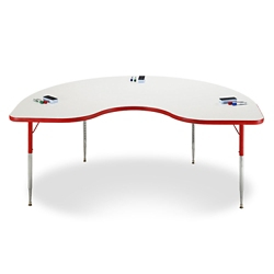 "Kidney White Board Table Top - 48""W x 72""D , 46508"