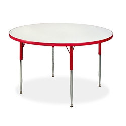 "Circle White Board Table Top - 48"" DIA, 46511"