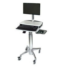 Adjustable Height Cart with Monitor Stand, 61006