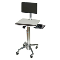 Adjustable Height Monitor Cart with Mouse Area, 61008