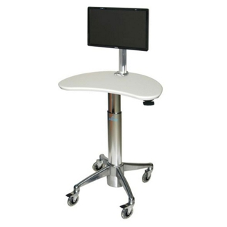 Kidney-Shaped Adjustable Height Monitor Cart, 61010