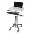 Locking Laptop Cart with Keyboard Tray and Pull-Through Mouse Area, 61011