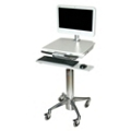 Adjustable Height All-in-One Computer Cart with Keyboard Tray, 61013