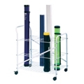 Roll File Cart with 24 Openings, 36324