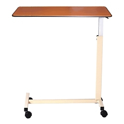 """Deluxe Overbed H-Base Table with Thermoformed Top - 30""""W, 26179"""
