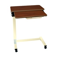"""Split-Top Overbed Fork Base Table with Laminate Top - 32""""W, 26189"""