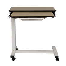 """Split-Top Overbed H-Base Table with Laminate Top - 32""""W, 26191"""