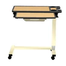 """Executive Split-Top Overbed U-Base Table with Laminate Top - 30""""W, 26192"""