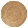 Round Natural Jute Rug - 6' DIA, 54011