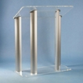 Four Post Aluminum and Acrylic Lectern, 43313