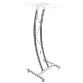 "Curved Acrylic Truss 43""H Lectern, 43427"