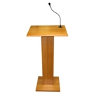 Wood Veneer Lectern with Sound, 85102