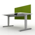 "Compact Sit-to-Stand Height Adjustable Desk with Privacy Screen - 48""W, 14138"